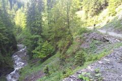 Pogled nazaj, na prijetno hladno dolino...