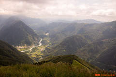 Pogled proti vasi Žaga in Srpenica na slovensko stran
